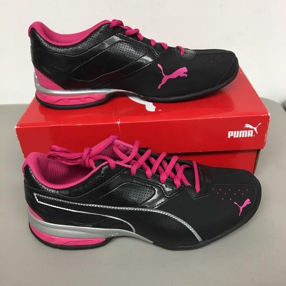Puma Women s Sneaker. Black   pink 9.5 bec554bca